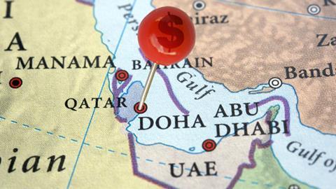 Multaqa Qatar map investment dollar