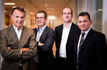 L-R: Martin Totty, Phil Screeton, Jonathan George, Derek McCormick