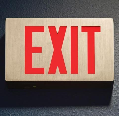 Exit, sign, leave, quit, resign