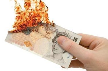 Burning money carousel