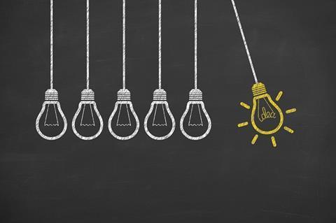 Innovation idea lightbulb light bulb