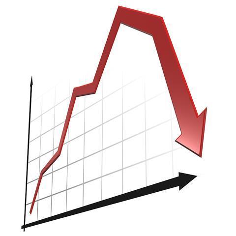 Down arrow loss