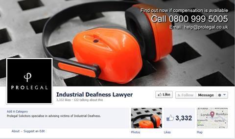 Industrial deafness Facebook