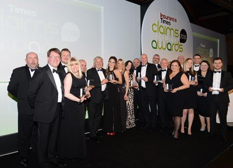 Claims Excellence 2016 awards winners