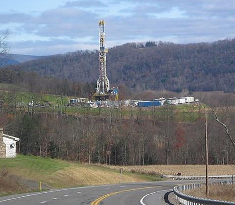 Shale gas/ 'fracking' rig