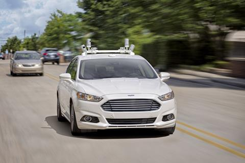 ford driverless car 2021