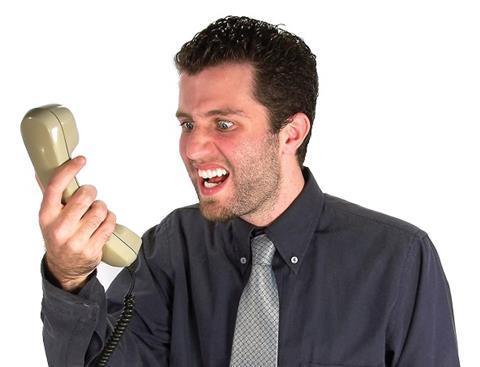 Angry phonecall