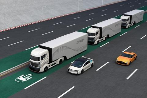 Driverless lorries