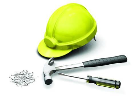 Builder tool hammer nails tradesman