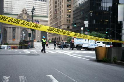 terror US police bomb blast cordon