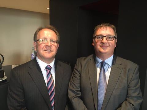 QuestGates director Alistair Steward (r) and Brown Bevan partner Clive Bevan