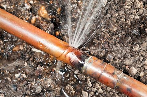 Water leak cropped