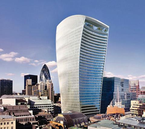 Fenchurch Street building being built for 2014