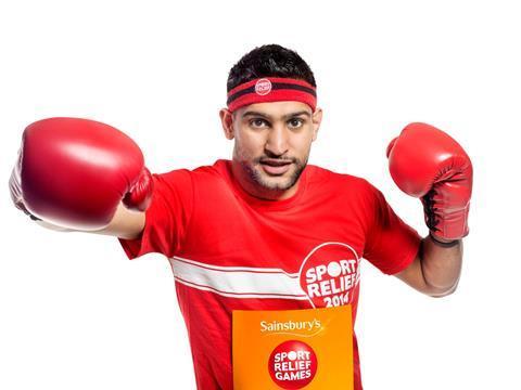 sport relief amir khan