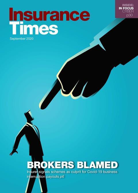 Brokers Blamed | September 2020 Issue | Insurance Times